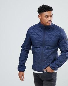 Темно-синяя стеганая куртка Blend - Темно-синий