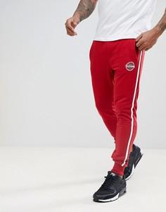 Красные узкие джоггеры с полосой сбоку Blend - Красный