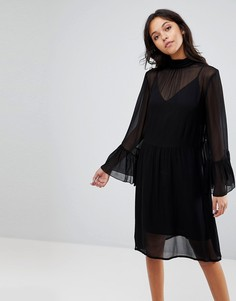 Платье с рукавами клеш Gestuz - Черный