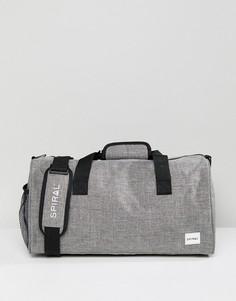 Серая сумка дафл Spiral - Серый