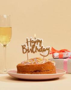 Свеча для торта Happy Birthday Ginger Ray - Мульти