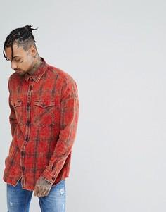 Красная свободная рубашка в клетку New Look - Красный