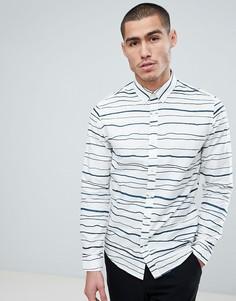 Узкая рубашка в полоску Only & Sons - Белый