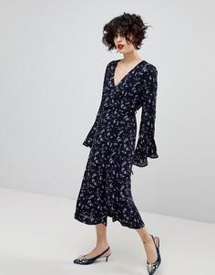 Платье с длинными рукавами Essentiel Antwerp Piscine - Синий