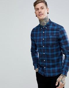 Темно-синяя клетчатая рубашка классического кроя River Island - Темно-синий