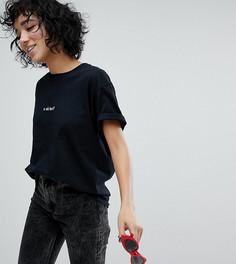 Футболка бойфренда с надписью U Ok Hun Adolescent Clothing - Черный