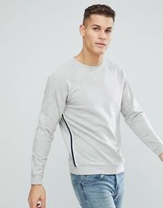 Свитшот со спортивной полосой по бокам Only & Sons - Серый