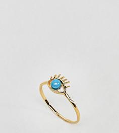 Кольцо из позолоченного серебра с глазом ASOS - Золотой