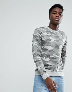 Свитшот с камуфляжным принтом Only & Sons - Серый