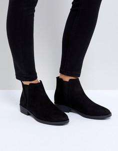 Низкие ботинки челси из искусственной замши New Look - Черный