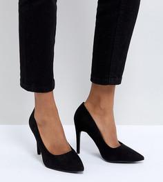Туфли-лодочки для широкой стопы с острым носком New Look - Черный