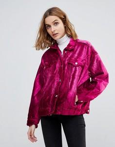 Куртка с бархатной отделкой Free People - Розовый