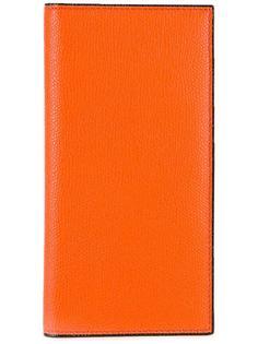 прямоугольный кошелек с зернистой выделкой Valextra