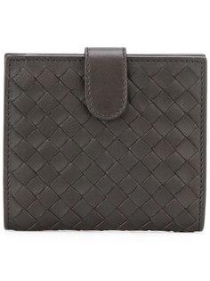 плетеный кожаный складкой кошелек  Bottega Veneta