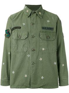 куртка с цветочной вышивкой As65