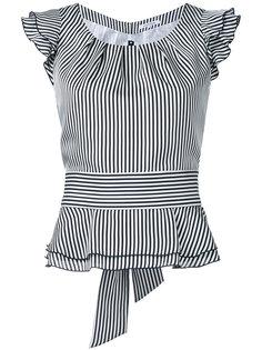 блузка в полоску с оборками на рукавах  Guild Prime