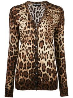 кардиган с леопардовым принтом Dolce & Gabbana
