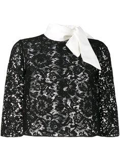 кружевная блузка-кейп Valentino