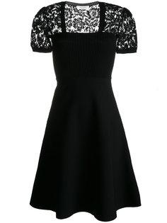 платье с кружевными рукавами-кап Valentino