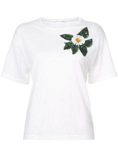 футболка с аппликацией  Oscar de la Renta