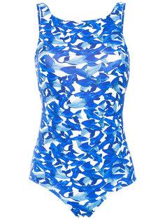 fish print swimsuit Isolda
