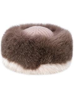 шляпа с лисьим мехом Agnona