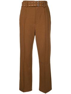 брюки узкого кроя с люверсами на ремне G.V.G.V.