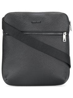 сумка-почтальонка с эффектом сафьяновой кожи Armani Jeans