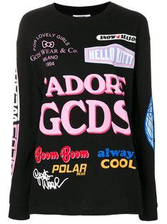 толстовка с разноцветным принтом  Gcds
