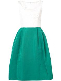 коктейльное платье с вышивкой  Carolina Herrera
