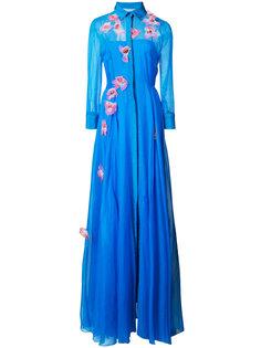 платье-тренч с вышивкой  Carolina Herrera