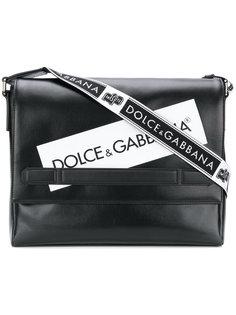 сумка-почтальонка с логотипом Dolce & Gabbana