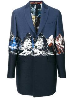 классическое пальто с принтом гор Etro