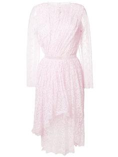 кружевное платье миди Ermanno Scervino