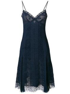 приталенное расклешенное платье Ermanno Scervino