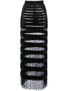 прозрачная плиссированная юбка с эффектом металлик Ermanno Scervino