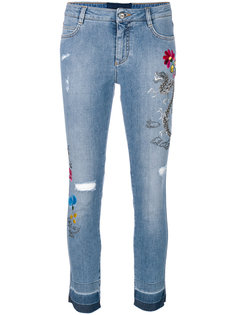 джинсы скинни с вышивкой Ermanno Scervino