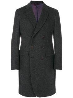 двубортное приталенное пальто Giorgio Armani