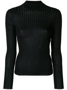 свитер в рубчик с отворотной горловиной Emilio Pucci