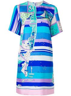 платье шифт с принтом  Emilio Pucci