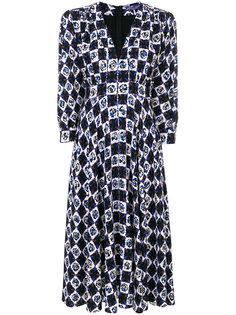 платье миди с цветочным узором Emilio Pucci
