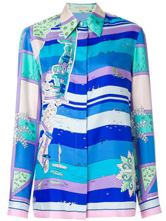 рубашка с принтом Emilio Pucci