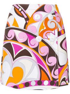 мини-юбка с пуговицами и принтом  Emilio Pucci