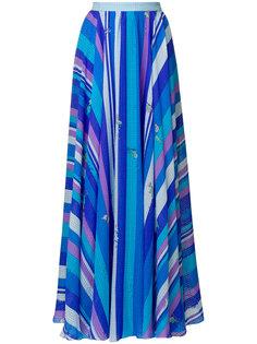 длинное платье с принтом Emilio Pucci