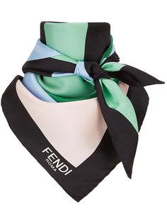 платок с геометрическим принтом с логотипом Fendi
