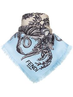 платок с цветочным принтом Fendi