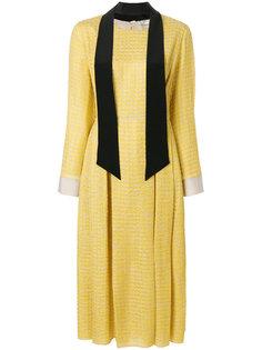 платье-миди с длинными рукавами Fendi