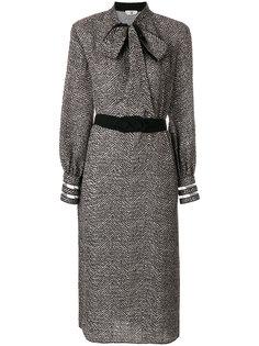 платье с шевронным узором Fendi