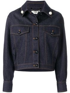 укороченная джинсовая куртка Fendi