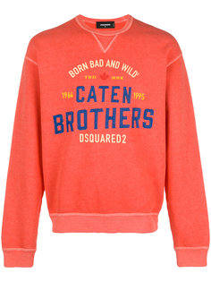 Caten Brothers print sweatshirt Dsquared2
